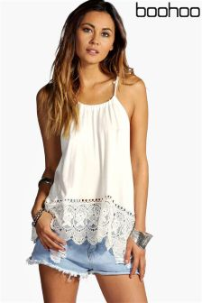 Boohoo Crochet Top