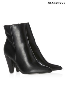 Glamorous Cone Heel Ankle Boot