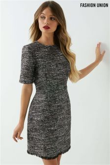 Fashion Union High Neck Shift Dress