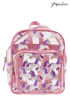 Paperchase Kawaii Unicorn Mini Clear Backpack