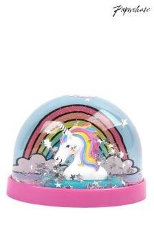 Paperchase Rainbow Unicorn Snow Dome