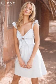 Bawełniana rozkloszowana sukienka Lipsy