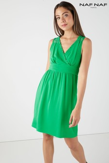 Naf Naf Lace Midi Dress
