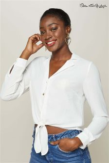 Miss Selfridge Twist Front Shirt