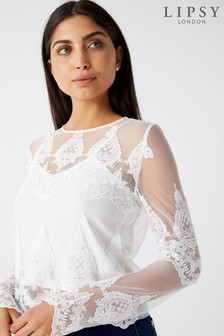 Lipsy Embroidered Lace Top