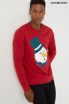 Jack & Jones Snowman Christmas Sweatshirt