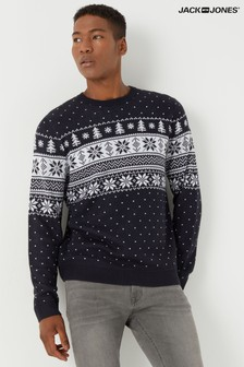Jack & Jones Fairisle Knitted Christmas Jumper