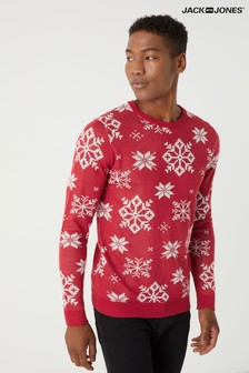 Jack & Jones All Over Fairisle Knitted Christmas Jumper