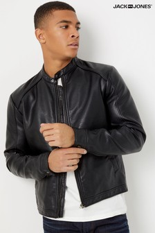 Jack & Jones Faux Leather Biker Jacket
