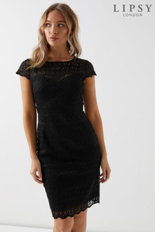 Lipsy All Over Lace Cap Sleeve Bodycon Dress