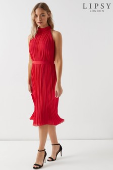 Lipsy Pleated Midi Dress