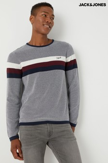 Jack & Jones Sports Stripe Knitted Jumper