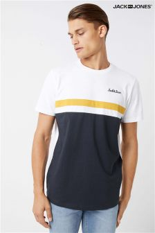 Jack & Jones Stripe Logo T-Shirt