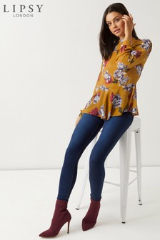 Lipsy Floral High Neck Blouse