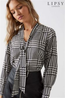 Lipsy Multiway Dogtooth Blouse