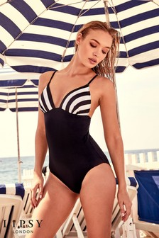 Lipsy Stripe Swimsuit