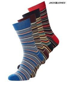 Jack & Jones Stripe Socks 4 Pack