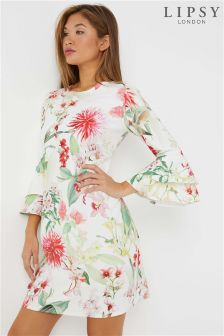 Lipsy Amy Print Ruffle Shift Dress