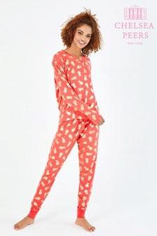 Chelsea Peers Pyjamaset mit Ananas-Folienmotiv