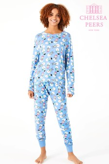Chelsea Christmas Peers Snow Man PJ Set