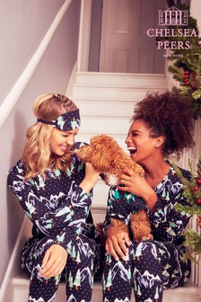 Chelsea Peers Christmas His & Hers Snowy Mountain PJ Set