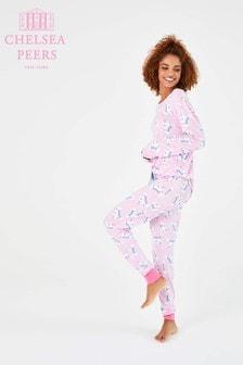 Chelsea Peers圣诞独角兽图案睡衣礼物套装