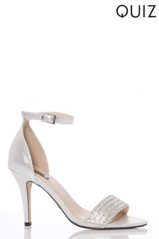 Quiz Diamanté Heeled Sandal