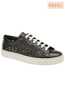 Ravel Leather Lace Up Trainers