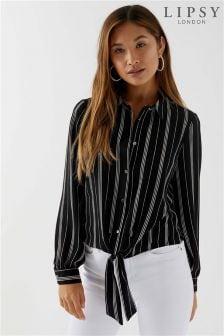 Lipsy Stripe Tie Front Shirt