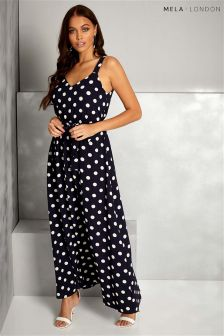 Mela London Polka Dot Maxi Dress