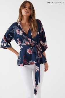 Mela London Kimono Sleeve Wrap Top
