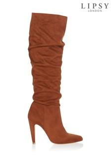 Lipsy Knee High Ruched Leg Boots