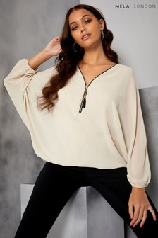 Mela London Batwing Zip Top