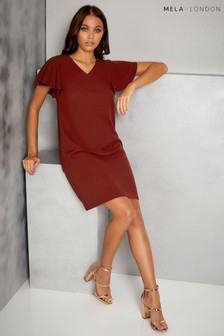 Mela London Fluted Sleeve Shift Dress