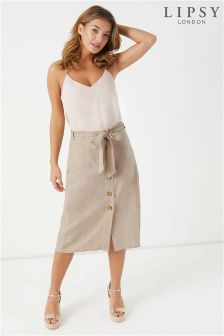 Lipsy Linen Midi Skirt