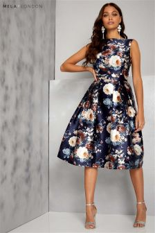 Mela London Printed Prom Dress