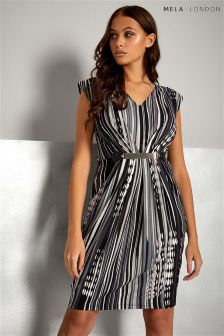 Mela London Striped Belted Dress