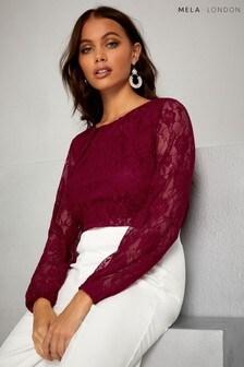 Mela London Lace Long Sleeve Top