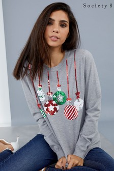 Society 8 Christmas Baubles Jumper