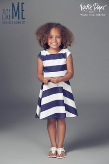 Want That Trend Mummy And Me Stripe Skater Dress