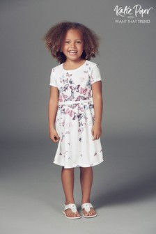 Want That Trend Mummy And Me Belted Butterfly Skater dress