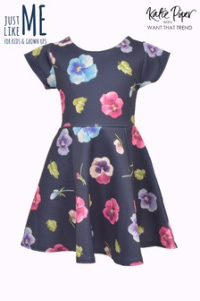 Want That Trend Mummy And Me Floral Print Skater Dress