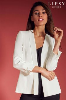 Lipsy Tailored Collarless Pearl Blazer