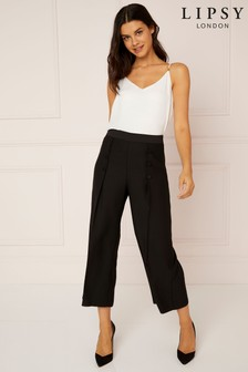 Lipsy Tailored Satin Button Trousers