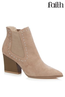 Faith Pin Head Western Chelsea Boots