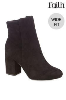 Faith Wide Fit Stretch Back Boots