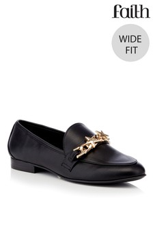 Faith Wide Fit Metal Trim Loafer