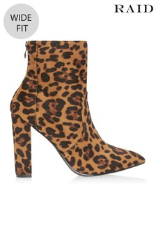 7679e3a4e1dd Raid Wide Fit Leopard Ankle Boots