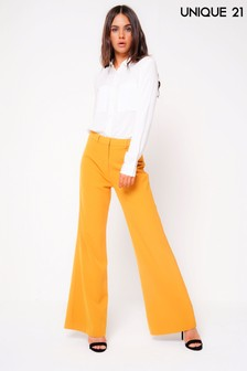Unique 21 High Waisted Wide Leg Trousers