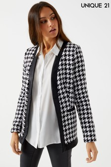 Unique 21 Houndstooth Jacket